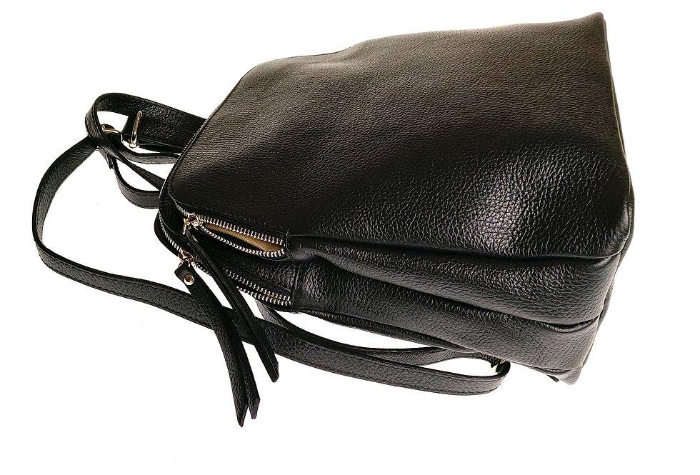 Plecak damski BORSE IN PELLE czarny
