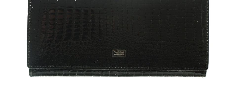 Portfel damski VERMARI lakierowany czarny