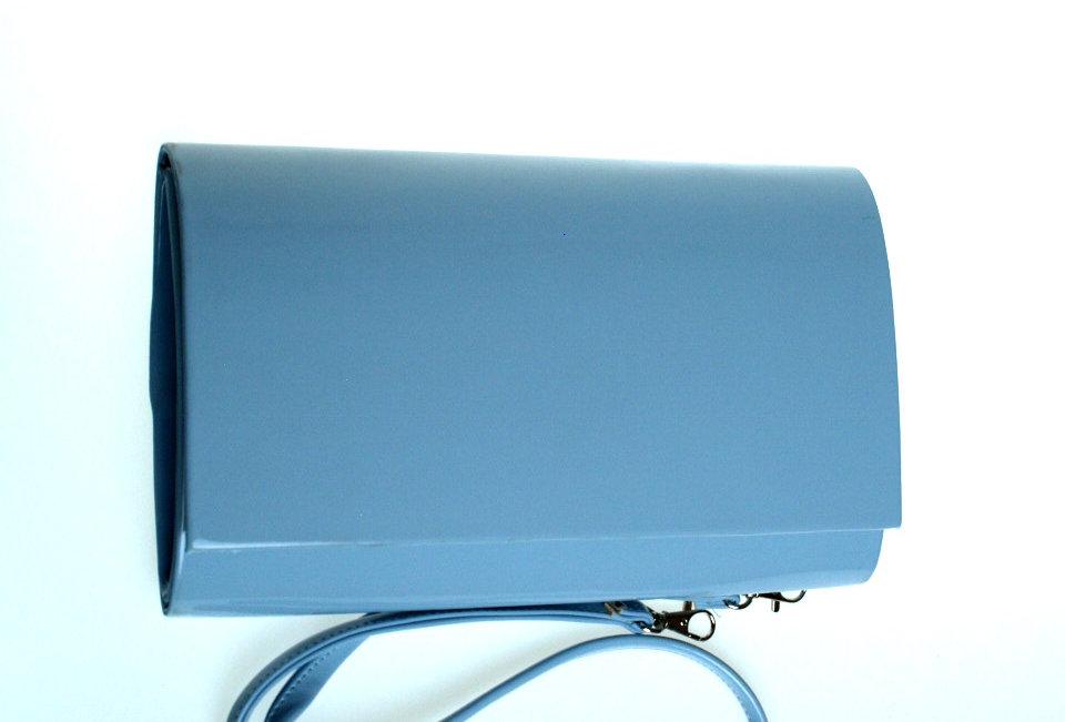Kopertówka wizytowa lakierowana SAPAR błękitna