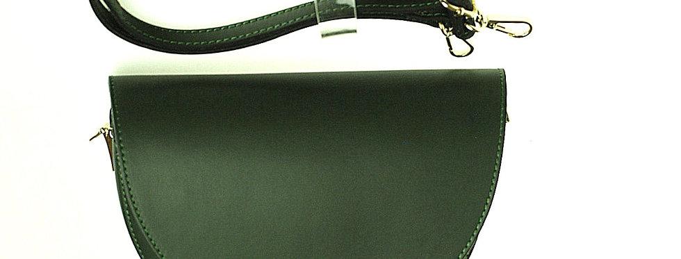 Przewieszka skórzana półksiężycowa zielona