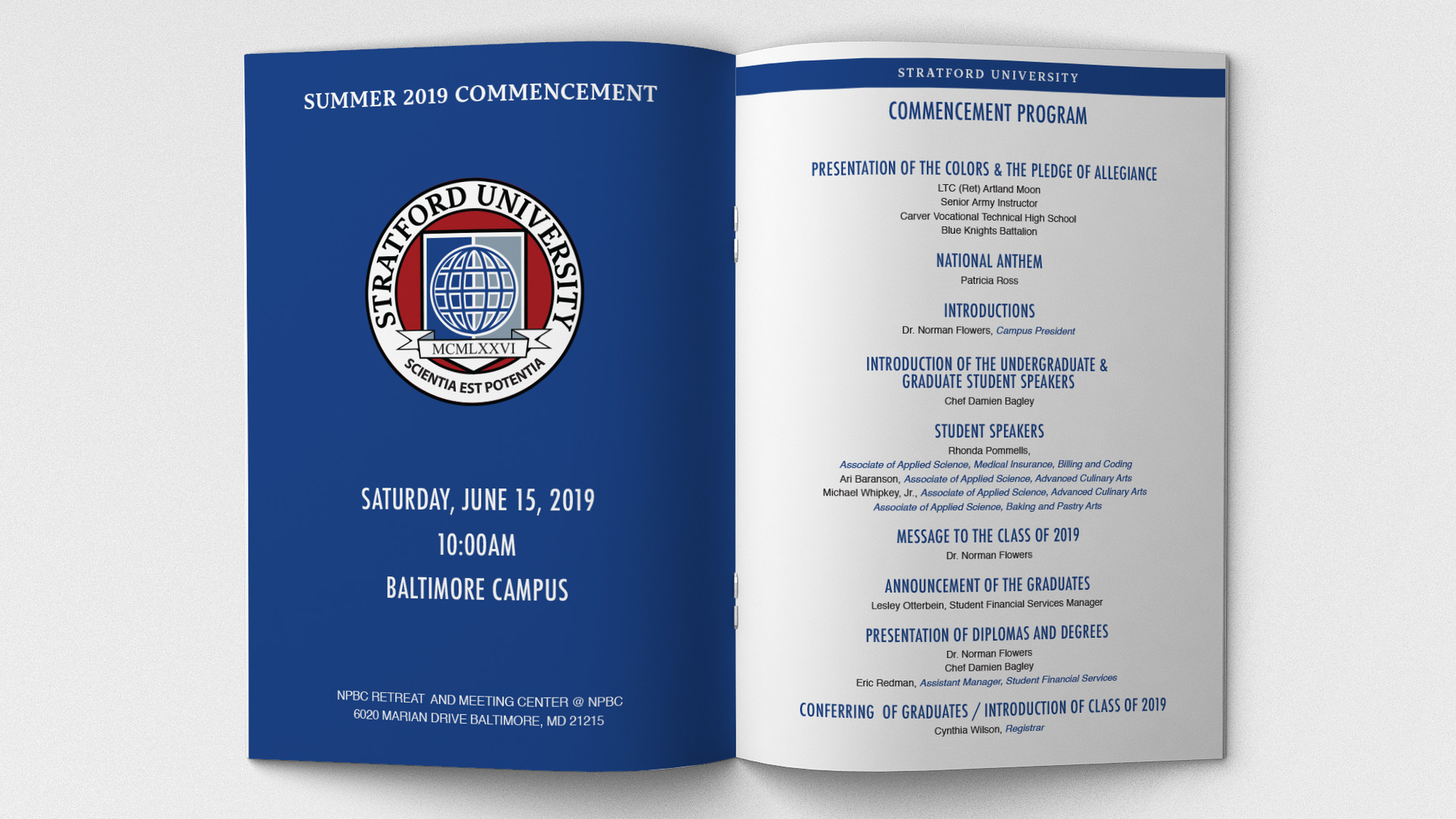 Graduation Commencement Book