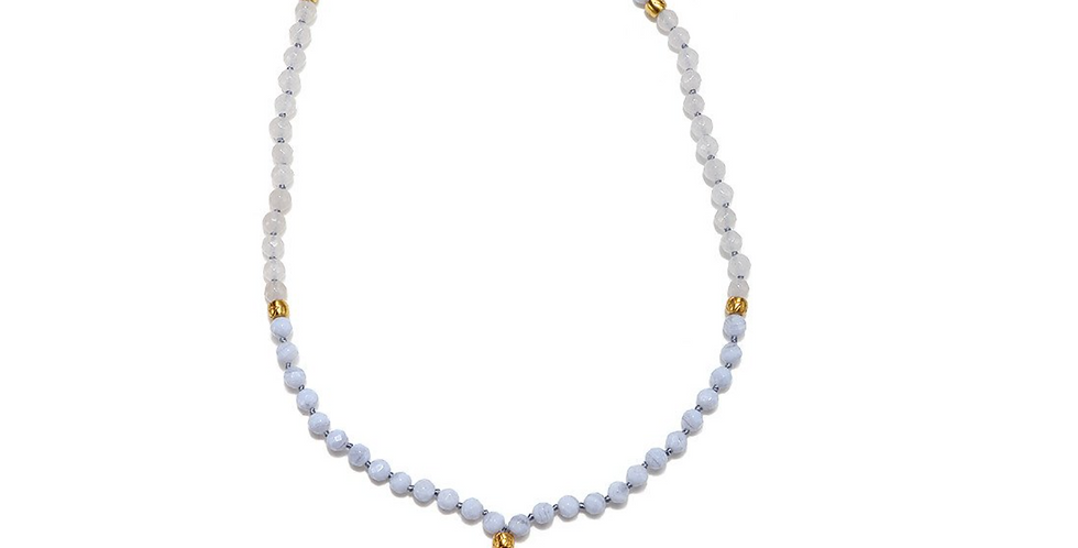 Courageous Authenticity Agate Mala
