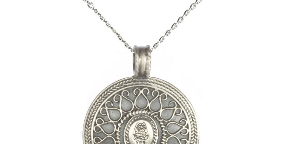 Silver Be Present Hamsa Necklace