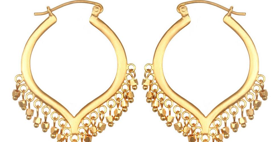 Lustrous Light Gold Earrings