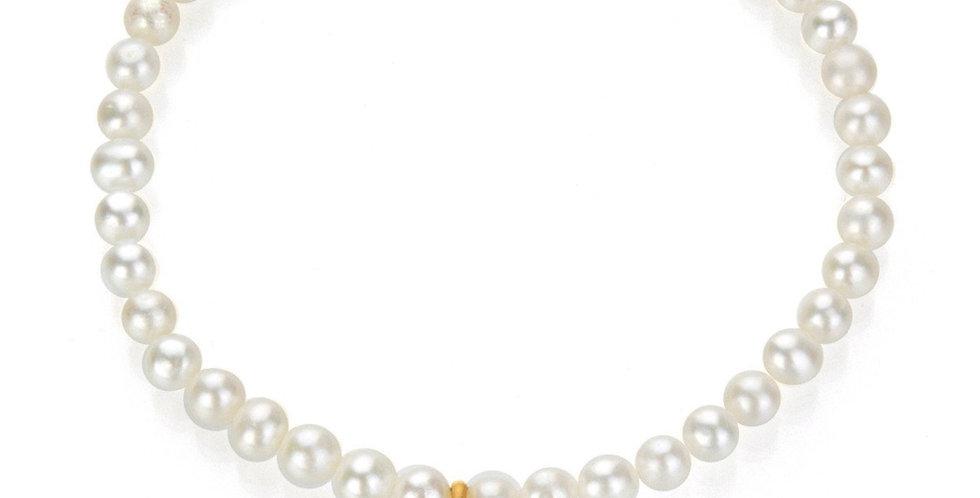 Gold Pearl Lotus Bracelet - Lotus Blossom