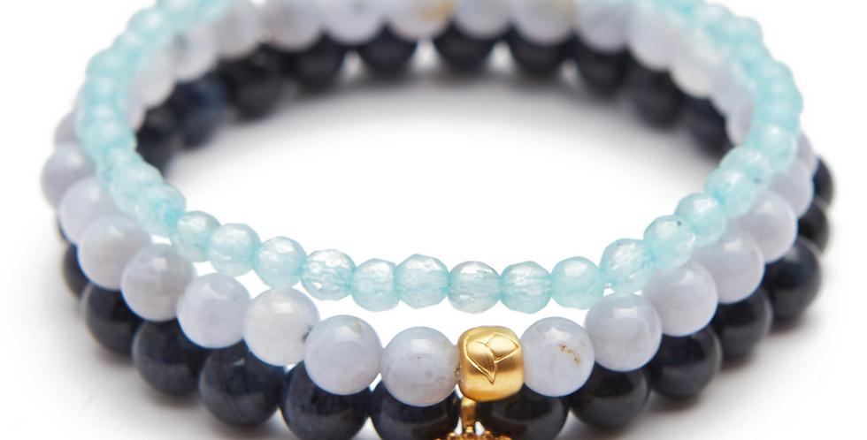 Blue Stretch Bracelet Set