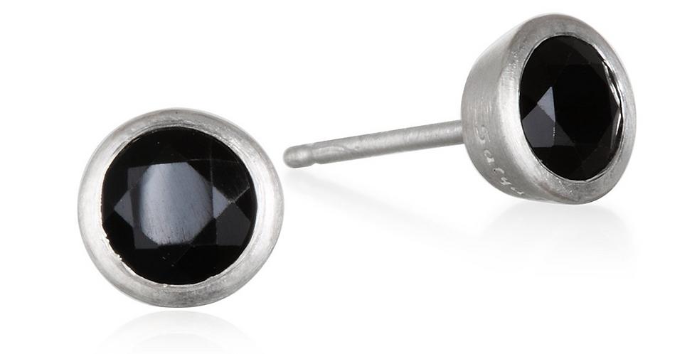 Prosperous Journey Onyx Stud Earrings