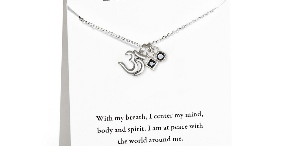 Restorative Energy Om Carded Necklace