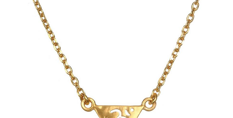 Insightful Om Gold Necklace