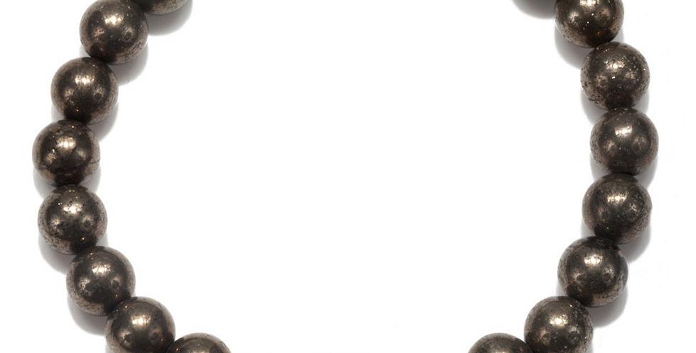 Men's Pyrite Eye Pendant Stretch Bracelet
