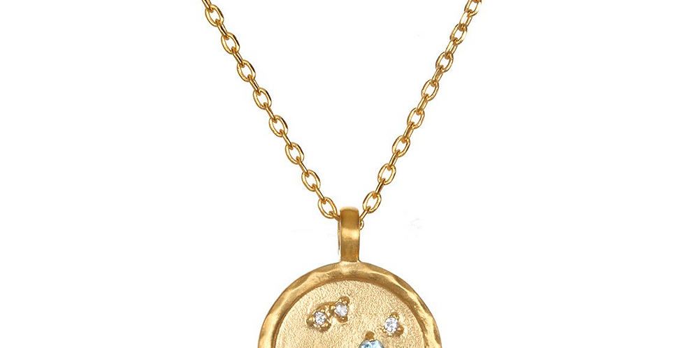 Sagittarius Zodiac Necklace Gold