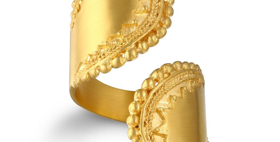 Encompass Paisley Wrap Ring - Gold