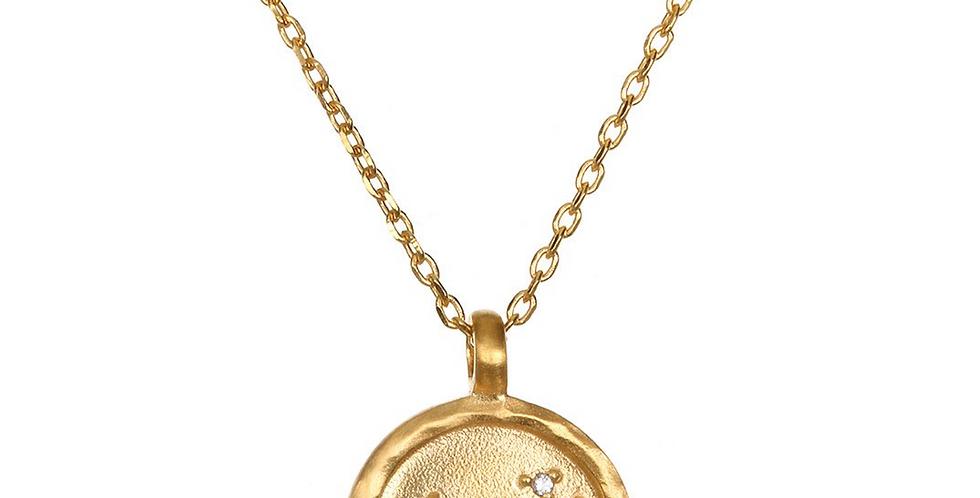 Leo Zodiac Necklace Gold