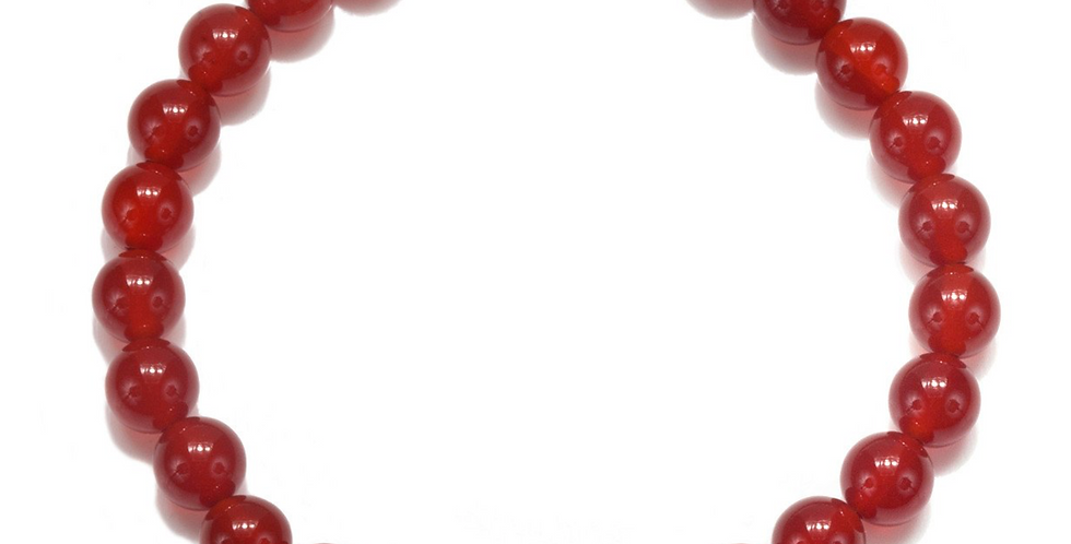 Men's Carnelian Om Pendant Stretch Bracelet
