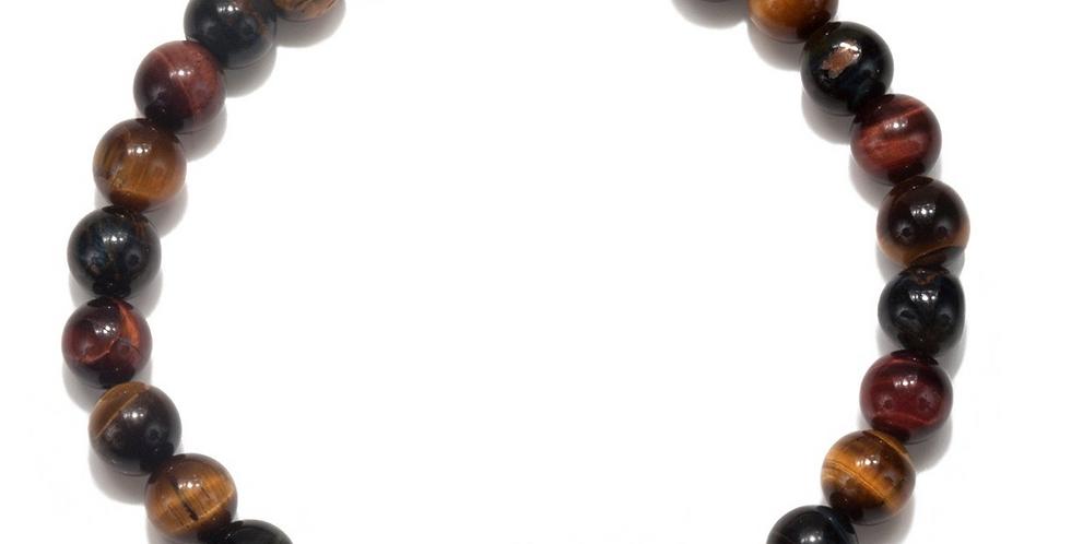 Men's Tiger Eye Ganesha Pendant Stretch Bracelet