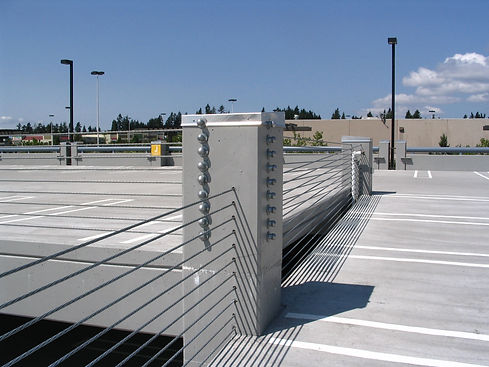 Federal Way parking garage with barrier cable system
