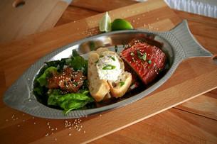Smoked Salmon and Sourdough Bread