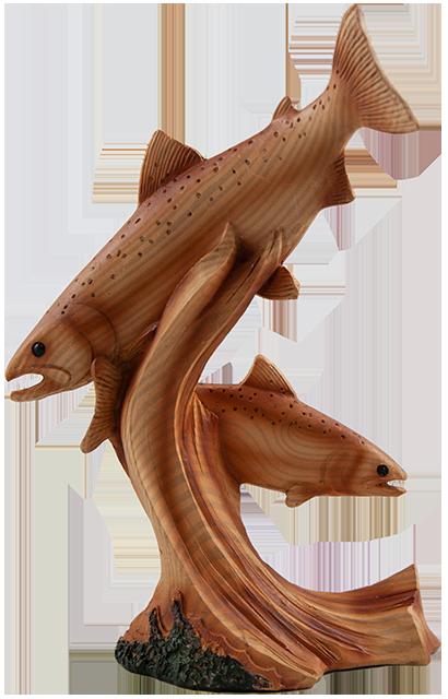 7 inch Resin Fish Statue C