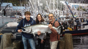 Get pictures taken with our prop fish and dock background.