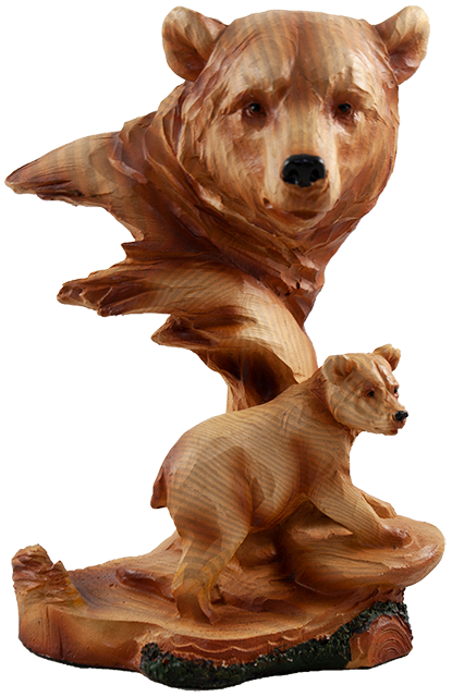 7 inch Resin Bear Statue