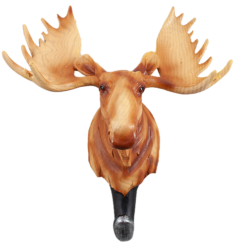 9 inch Resin Moose Coat Hanger