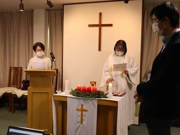 クリスマス礼拝・愛餐会がありました