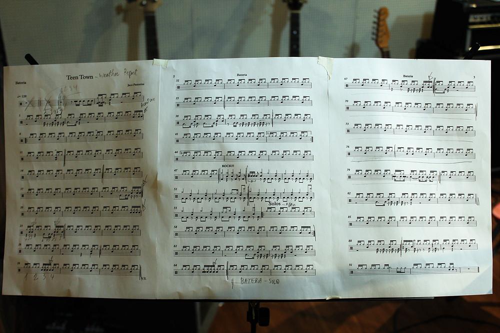 partitura de bateria