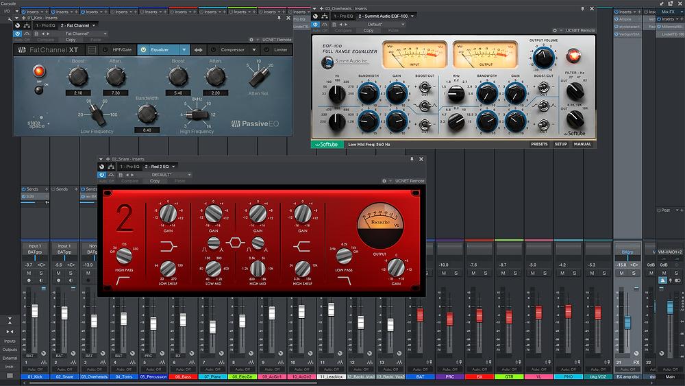 Presonus FatChannelXT Pultec EQP-1A Focusrite RED 2 Softube Summit Audio EQF-100