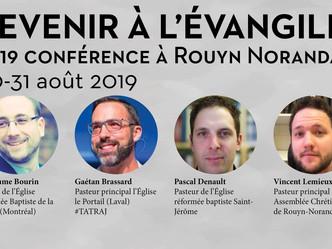 CONFÉRENCE REVENIR À L'ÉVANGILE 2019