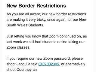New Border Restrictions