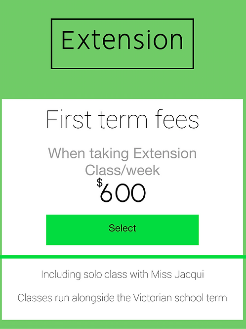 First Term - Extension Class Package