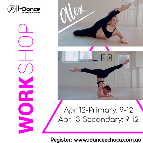 Workshop with Miss Alex -April 12 (primary) April 13 (secondary)