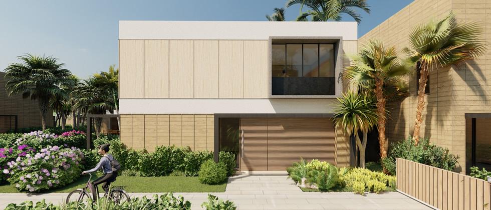 Vista Exterior3 - Villa 2 Niveles