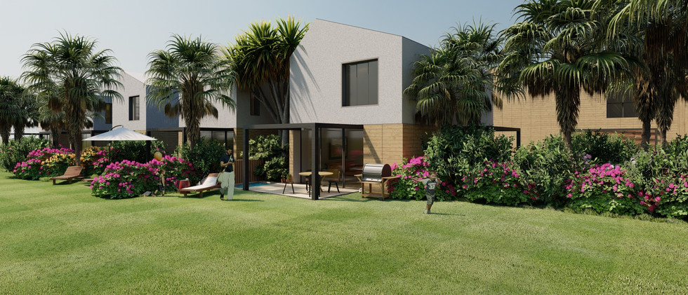 Vista Exterior5 - Villa 2 Niveles