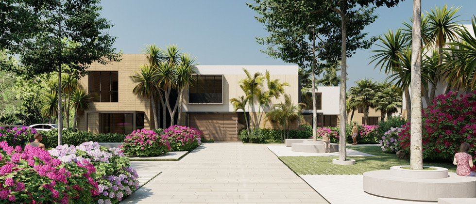 Vista Exterior1 - Villa 2 Niveles