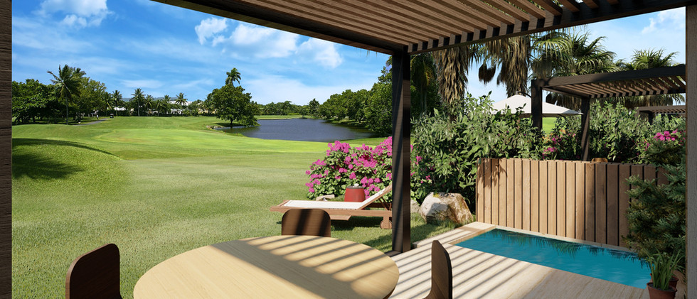 Vista Campo de Golf - Villa 2 Niveles