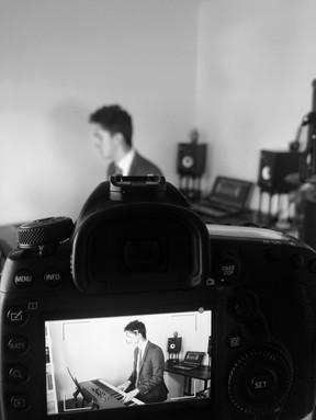 David recording a piano session