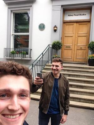 David recording at Abbey Road Studios, 2018