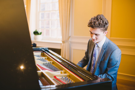 David Bennett at the piano