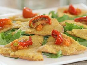 Pandekage hapser med linse humus