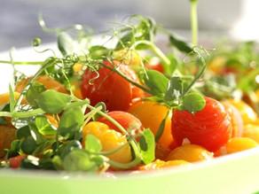 Hvidløgs bagte tomater