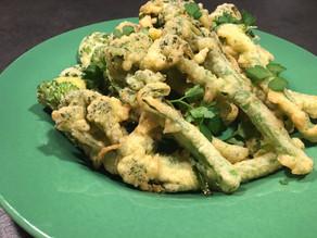 Broccoli i beignet dej