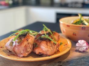 Kylling med sauteret asparges