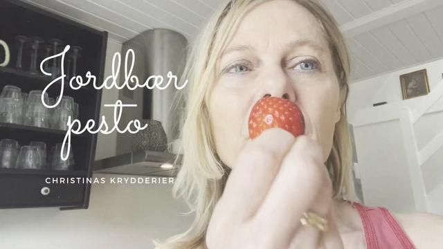 Jordbær pesto