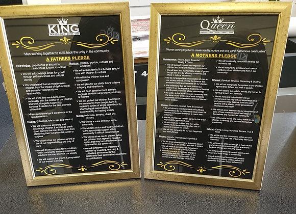 King & Queen Pledge Board