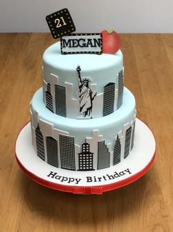 New York Skyline cake