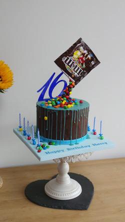 Gravity defying M&M cake