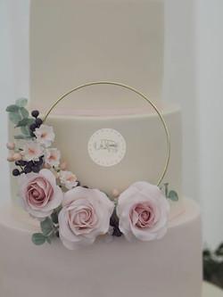 Rose Hoop wedding Cake