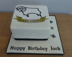 Derby County Birthday Cake