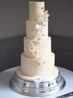 Buttercream 4 tier with sugar orchid